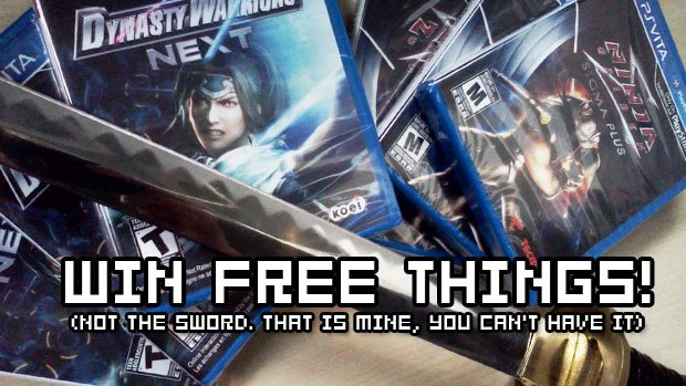 Win Ninja Gaiden & Dynasty Warriors PS Vita games! photo