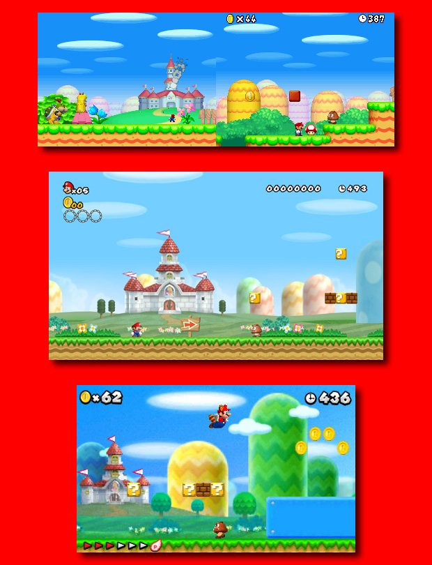 Why does New Super Mario Bros  2 look so bland?