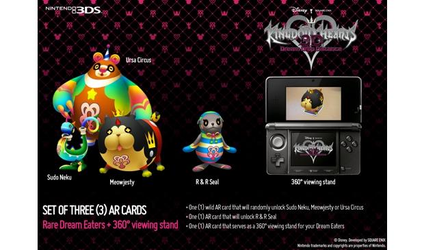 Kingdom Hearts 3D [Dream Drop Distance] preorder AR cards screenshot