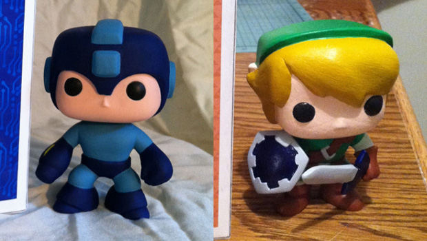 Cute Mega Man And Link Custom Vinyl Figs Make Me Giggle