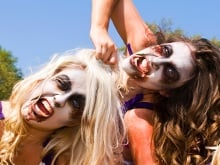 Zombie cheerleaders can be found at London Comic-Con photo