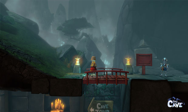 Preview: Solving simple puzzles in The Cave on