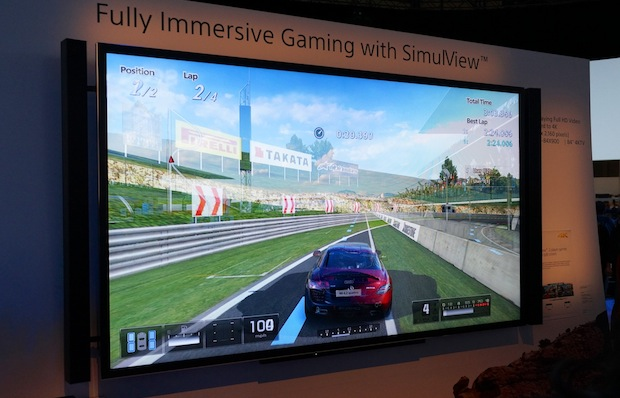 ces sony shows gran turismo 5 at 4k with simulview. Black Bedroom Furniture Sets. Home Design Ideas
