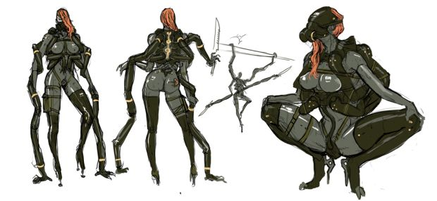 Have some metal gear rising revengeance concept art for Concept metal
