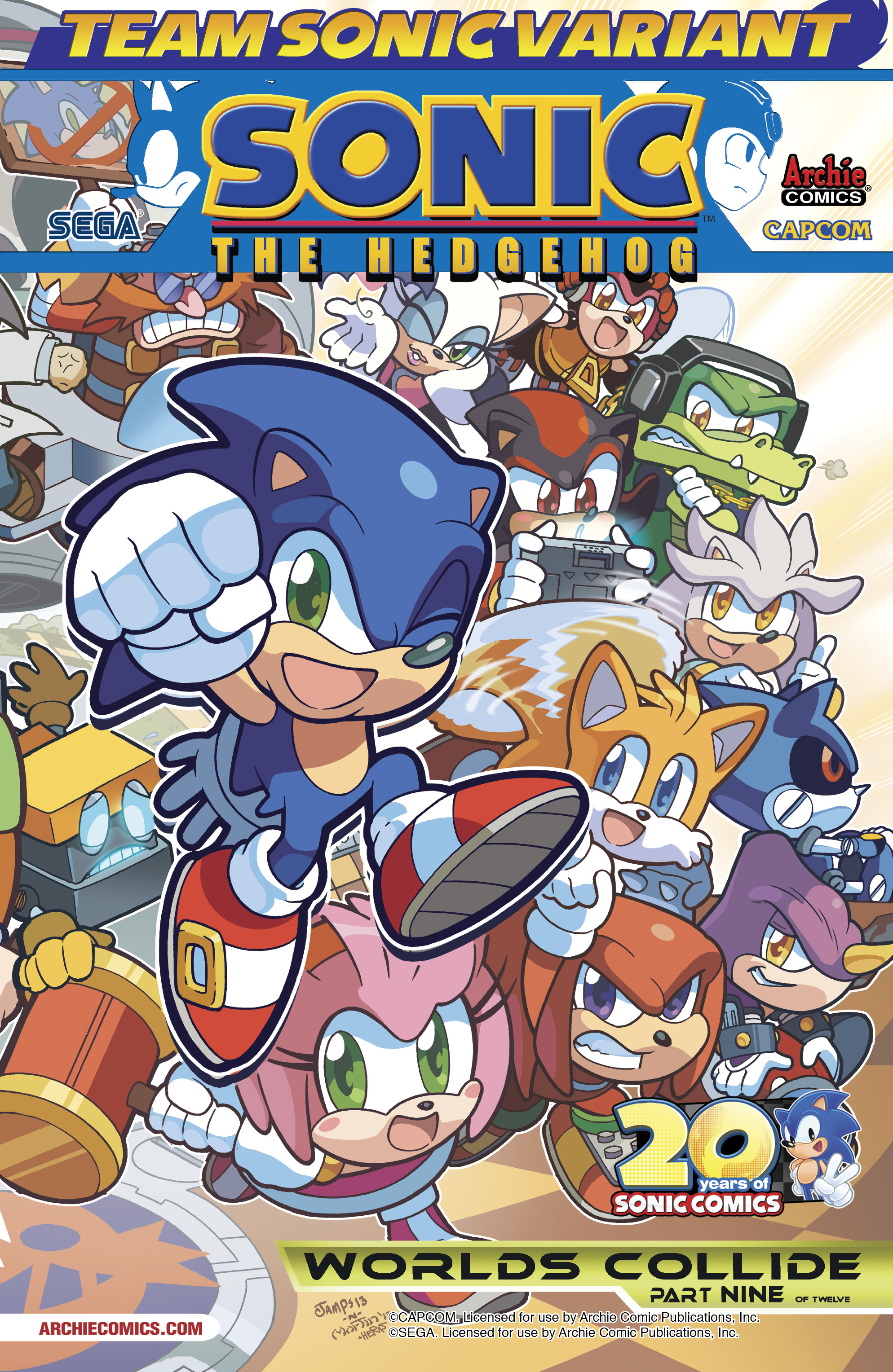 D Aww Sonic And Mega Man Chibis Adorn These Comic Covers