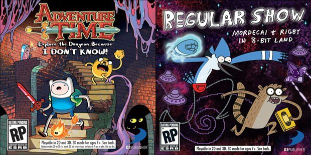 Scope these Adventure Time, Regular Show game covers