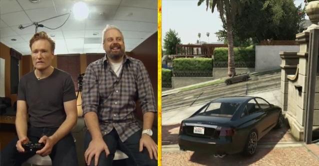 Conan O'Brien tries his hand at Grand Theft Auto V