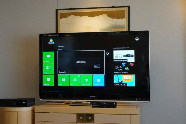 Xbox One interface is clean, uncluttered