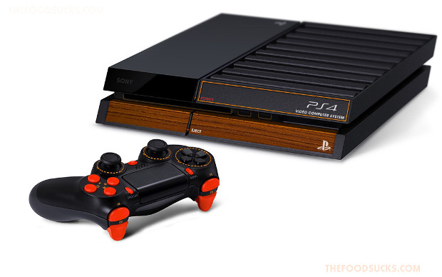 Look at this amazing atari themed playstation 4