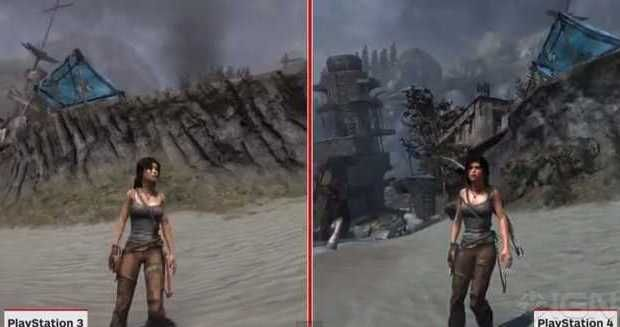 tomb raider definitive edition comparison video. Black Bedroom Furniture Sets. Home Design Ideas