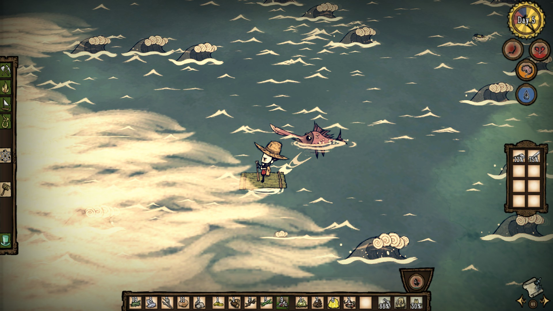 My first five days in Don't Starve: Shipwrecked did not go ... on bloodborne map, dark souls map, dead rising 3 map, dragon age: inquisition map, h1z1 map, dying light map, five nights at freddy's map, strider map, lords of the fallen map, damnation map, assassin's creed unity map, crackdown 2 map, icewind dale map, destiny map, axiom verge map, the crew map, terraria map, project zomboid map, the elder scrolls online map, everybody's gone to the rapture map,