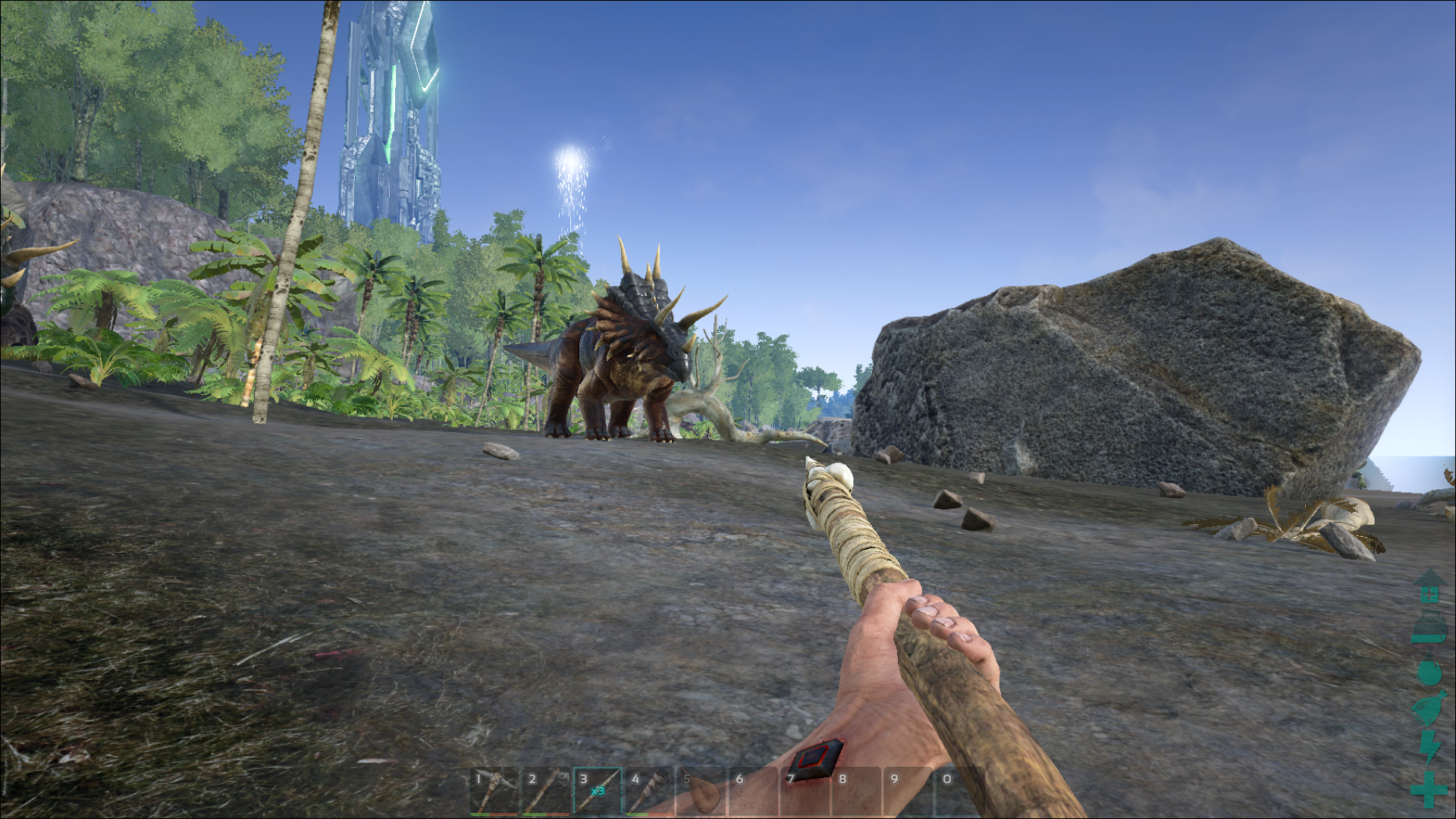 ARK: Survival Evolved runs in Linux, but doesn't look anywhere near as good as the Windows version does at highest settings, and performs worse overall.