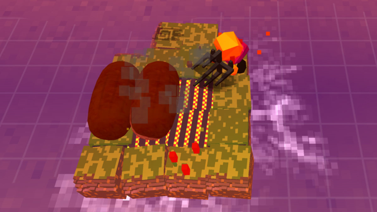A minimal level presented in Stephen's Sausage Roll