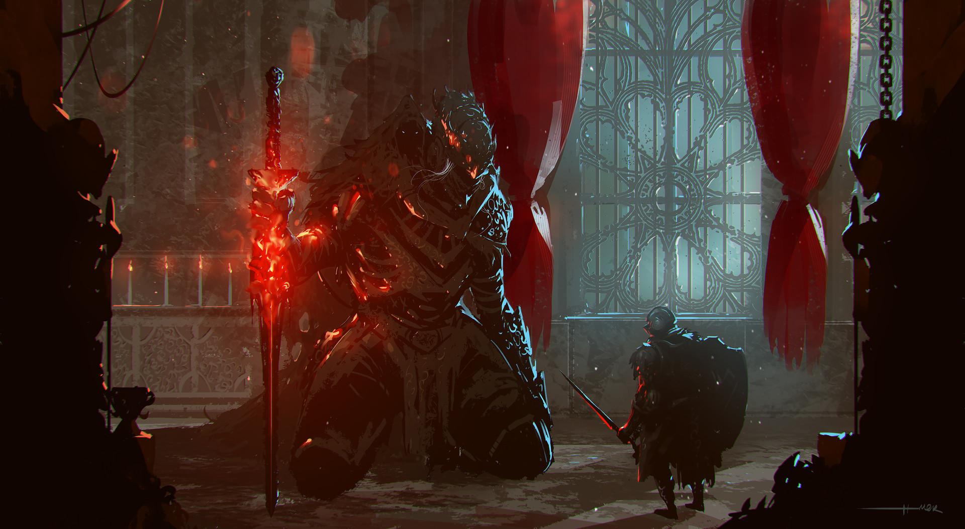Artwork Dark Souls Ii Wallpaper: This Artwork Of Dark Souls III's Best Boss Fight Is Killer