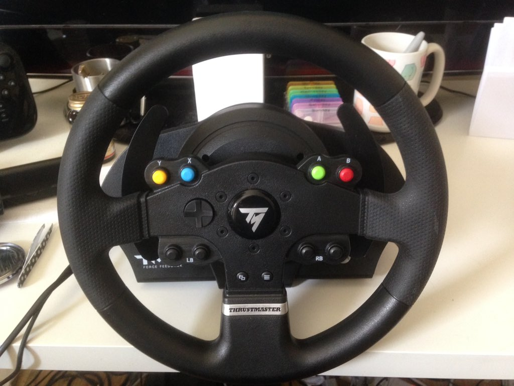 review thrustmaster tmx force feedback wheel. Black Bedroom Furniture Sets. Home Design Ideas