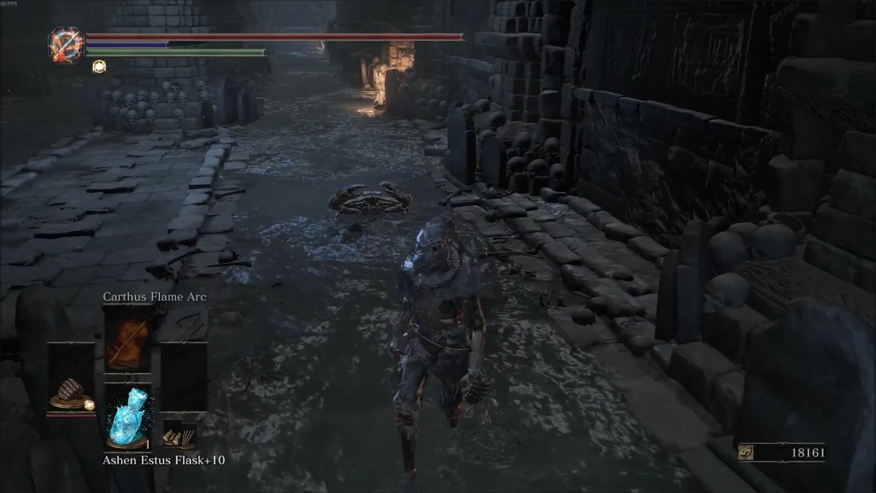 Dark Souls III player escorts a crab so we don't have to screenshot