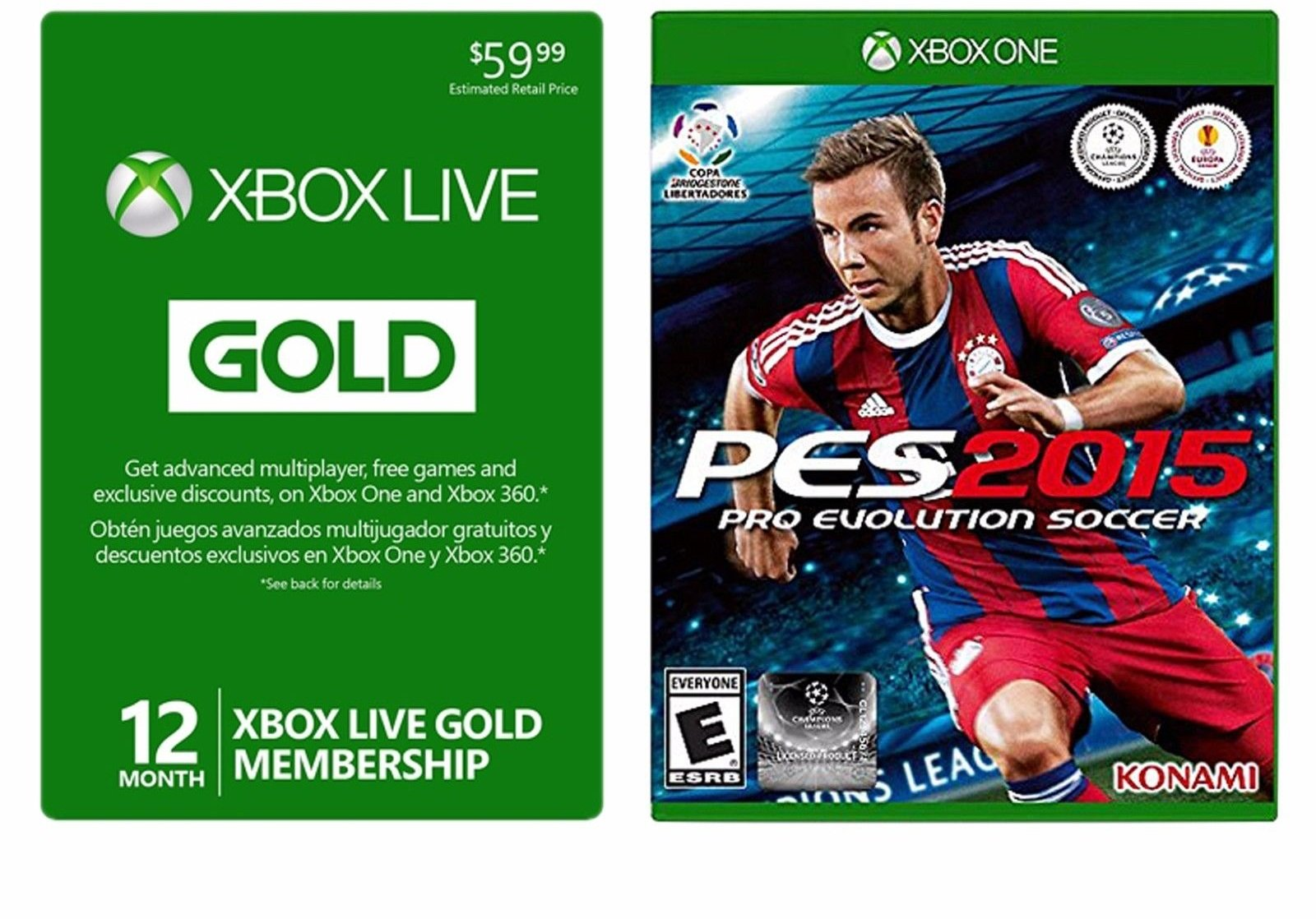 Hot deal xbox live 12 month card free pes 2015 for 39 99