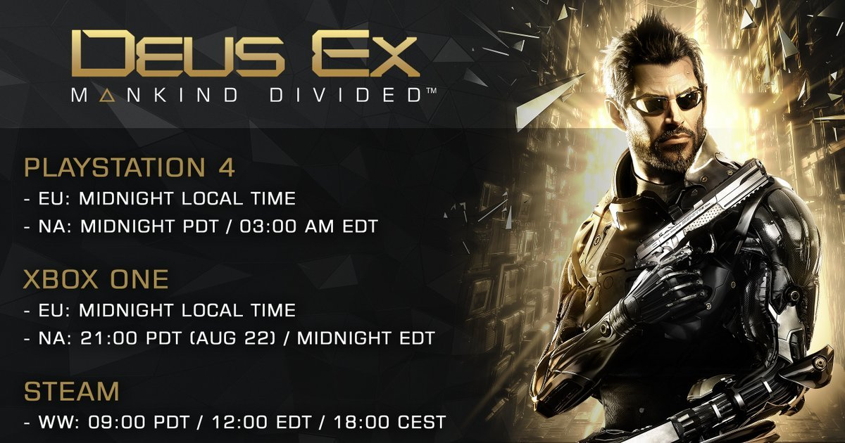 [ ] PC Patch notes for Deus Ex: Mankind Divided ...