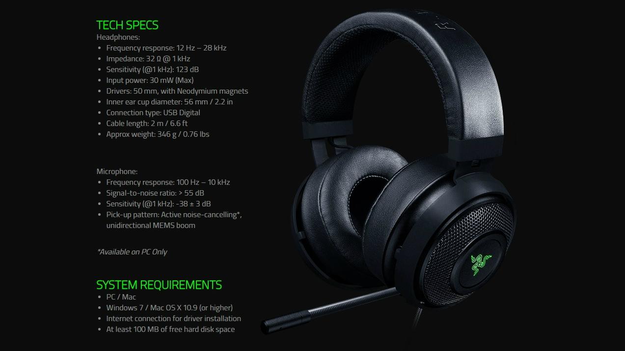 Review Razer Kraken 7 1 V2 Gaming Headset