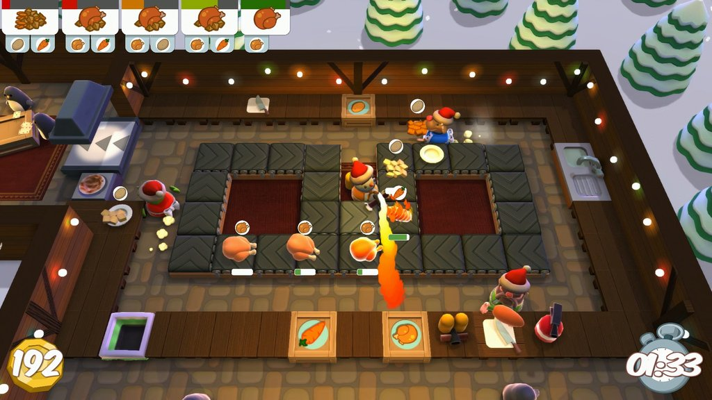 New Xbox One Indie Games : Overcooked is getting even better with free festive dlc