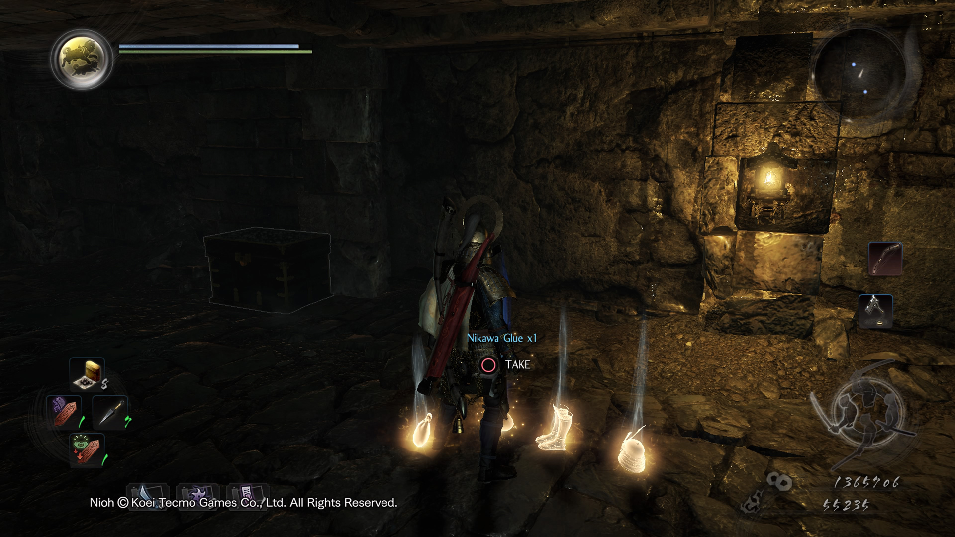 Loot from a Mujina in Nioh