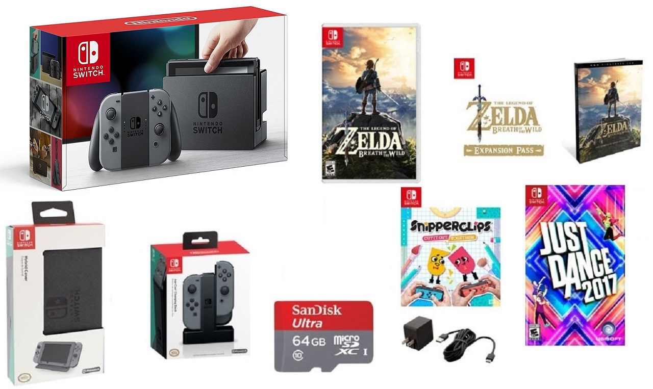 There's a $599 Nintendo Switch bundle available online at GameStop