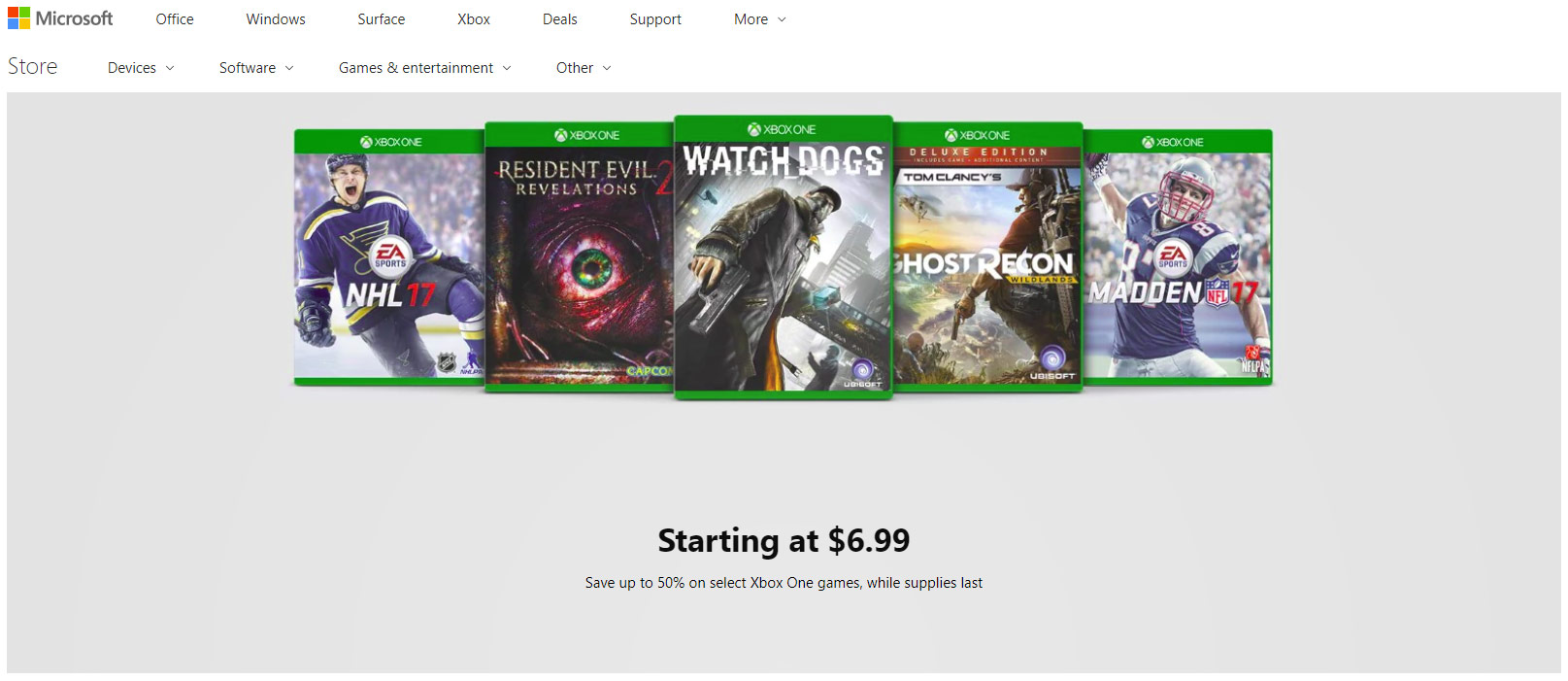 Xbox One Games On Sale : Microsoft store s xbox one game clearance sale starts at