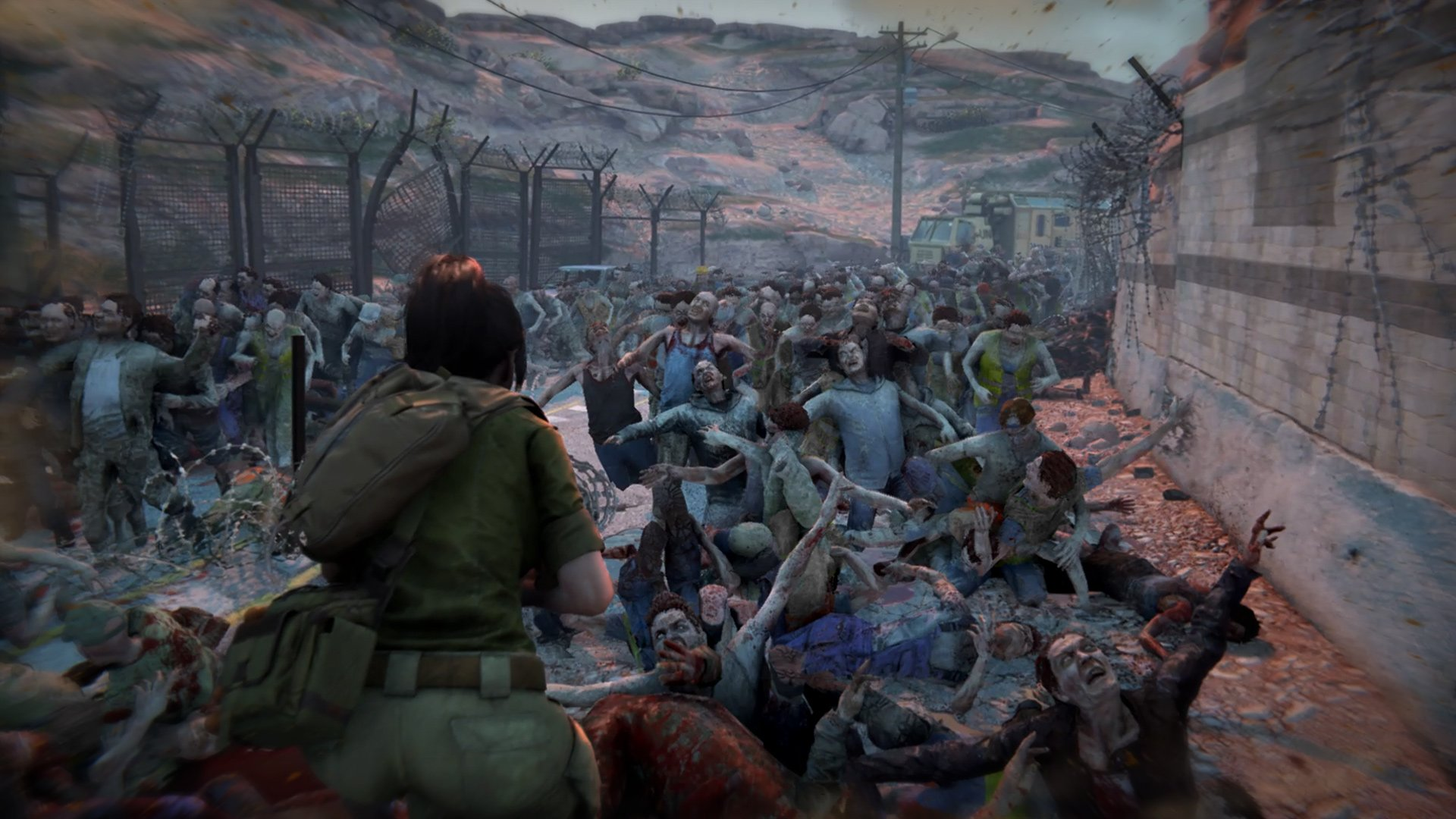 World War Z is all about big zombie swarms