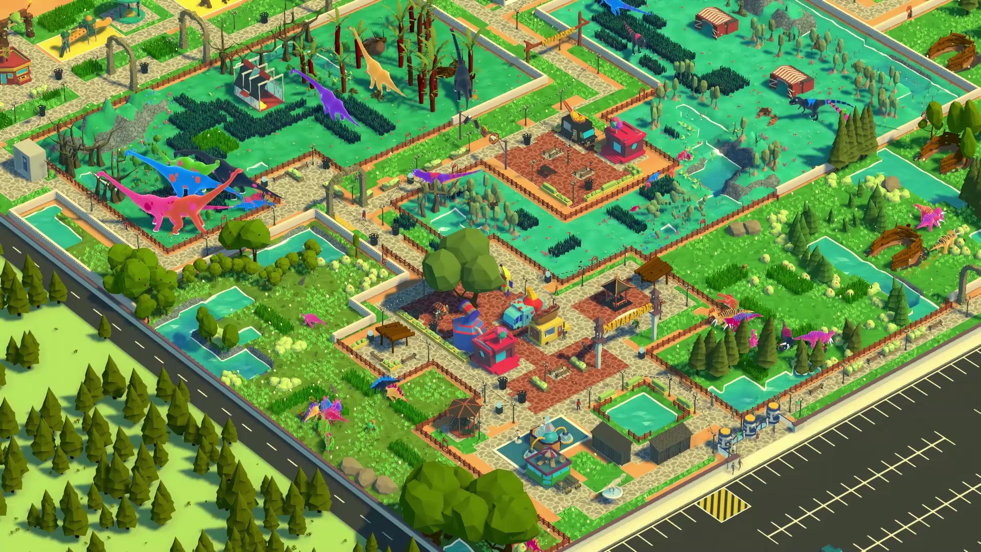 An overview screenshot of Parkasaurus