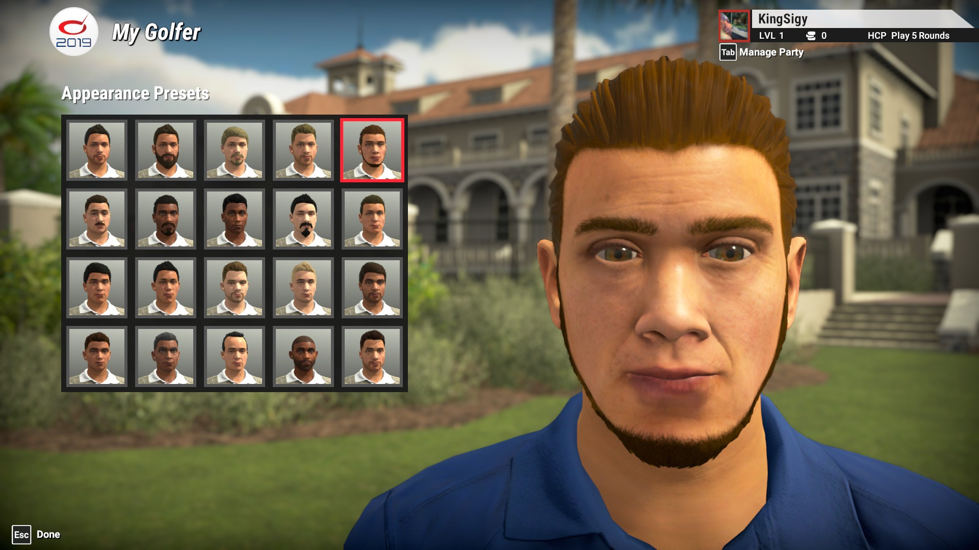 The Golf Club 2019 Character Creator