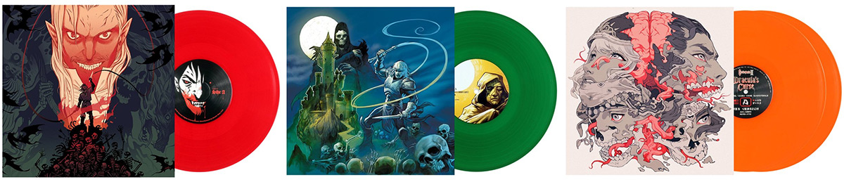 New colorways for the Castlevania NES trilogy on vinyl
