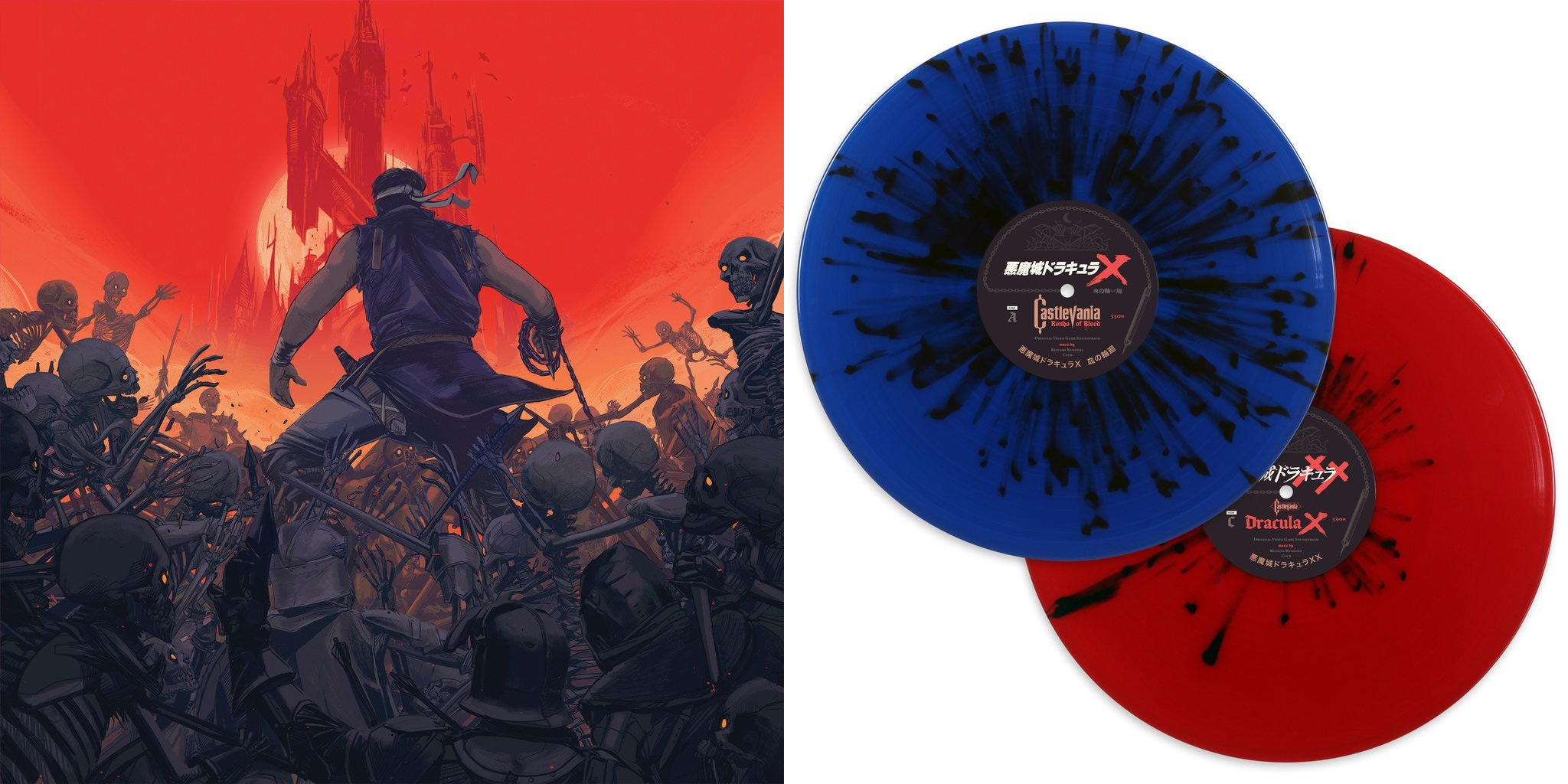 The Rondo of Blood vinyl with art by Oliver Barrett
