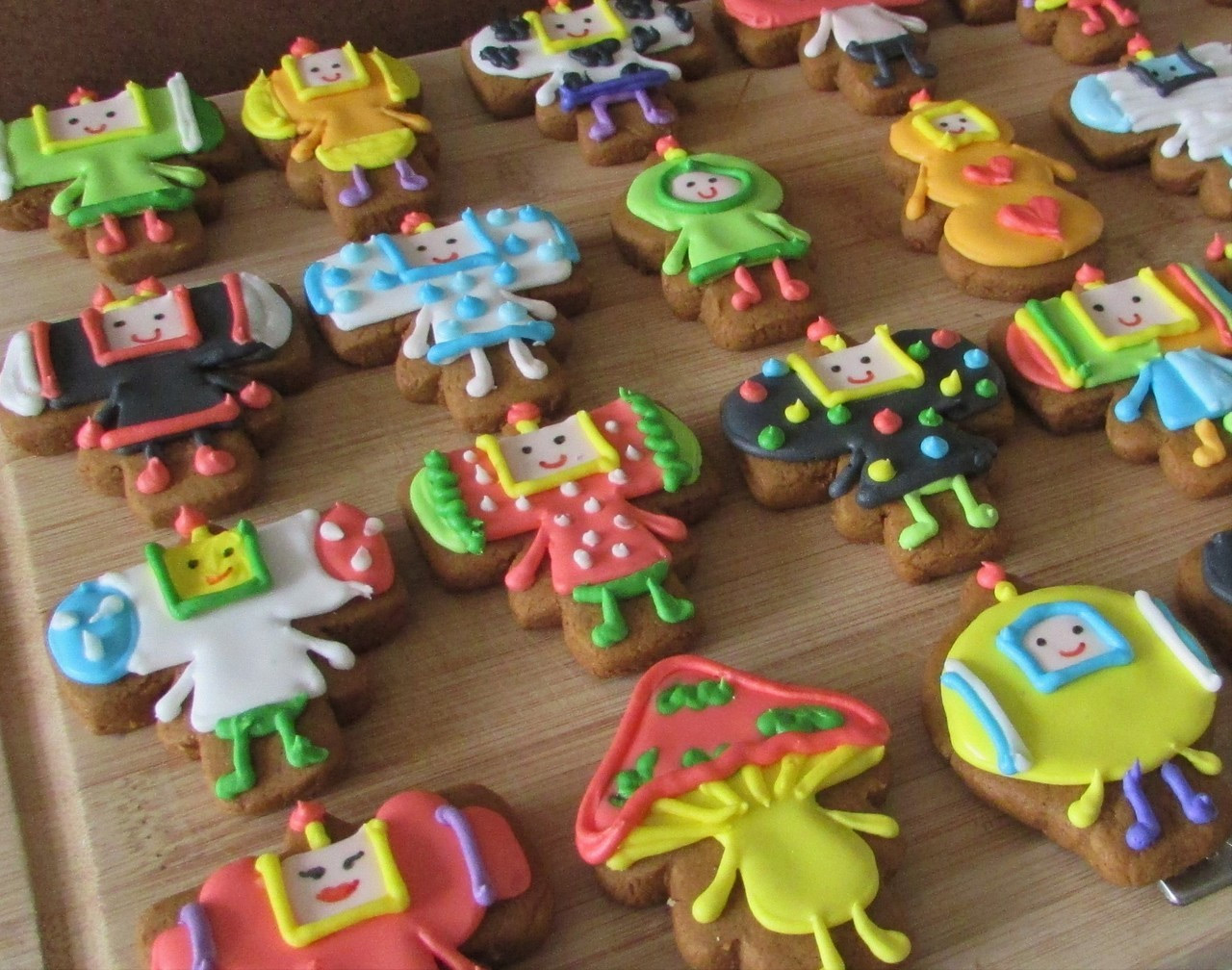 Katamari cookies created by Cowabunga