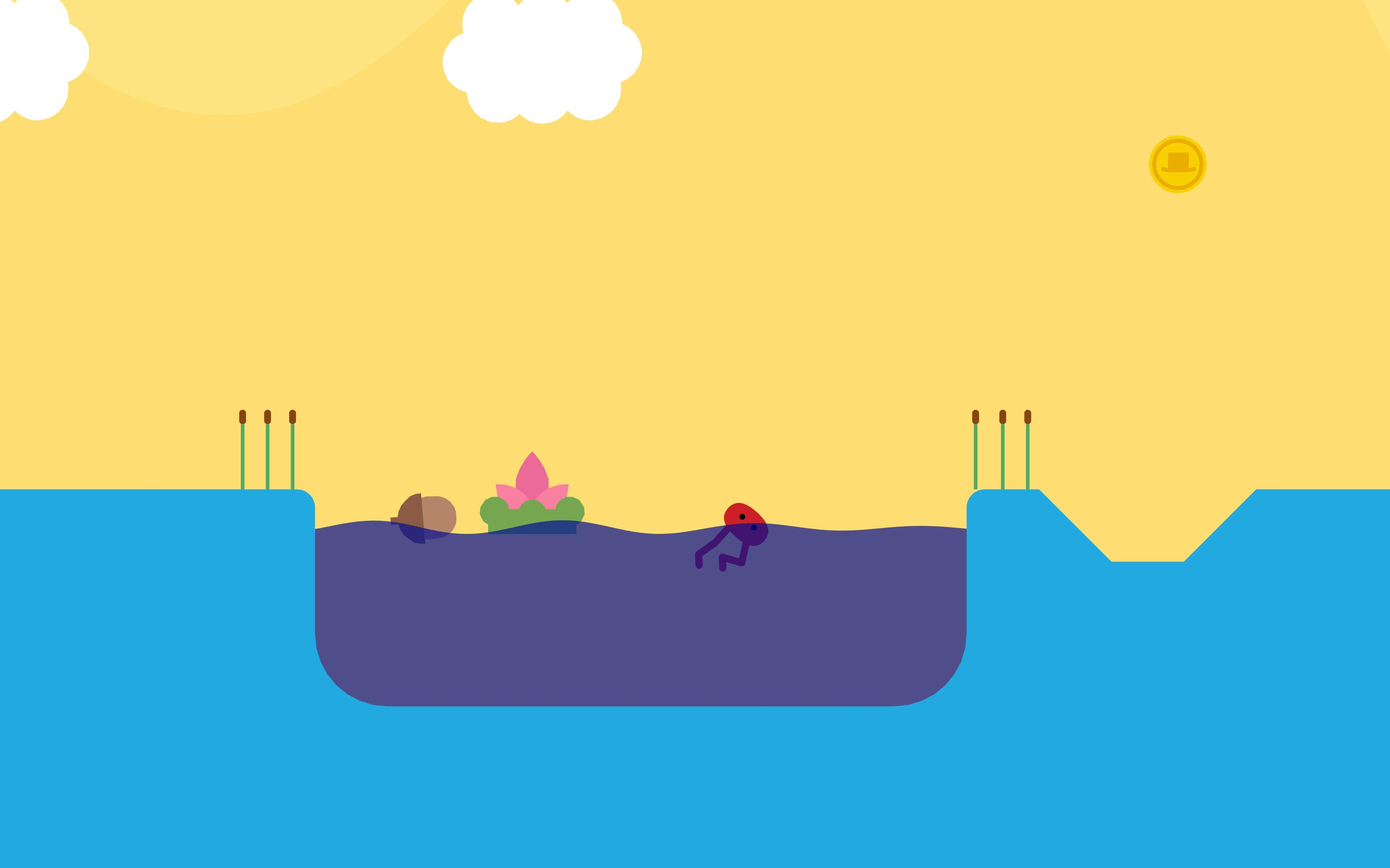 You can go for a dip in Pikuniku