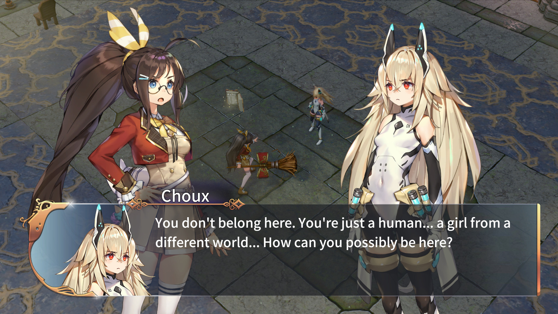 Dialogue screen in RemiLore: Lost Girl in the Lands of Lore