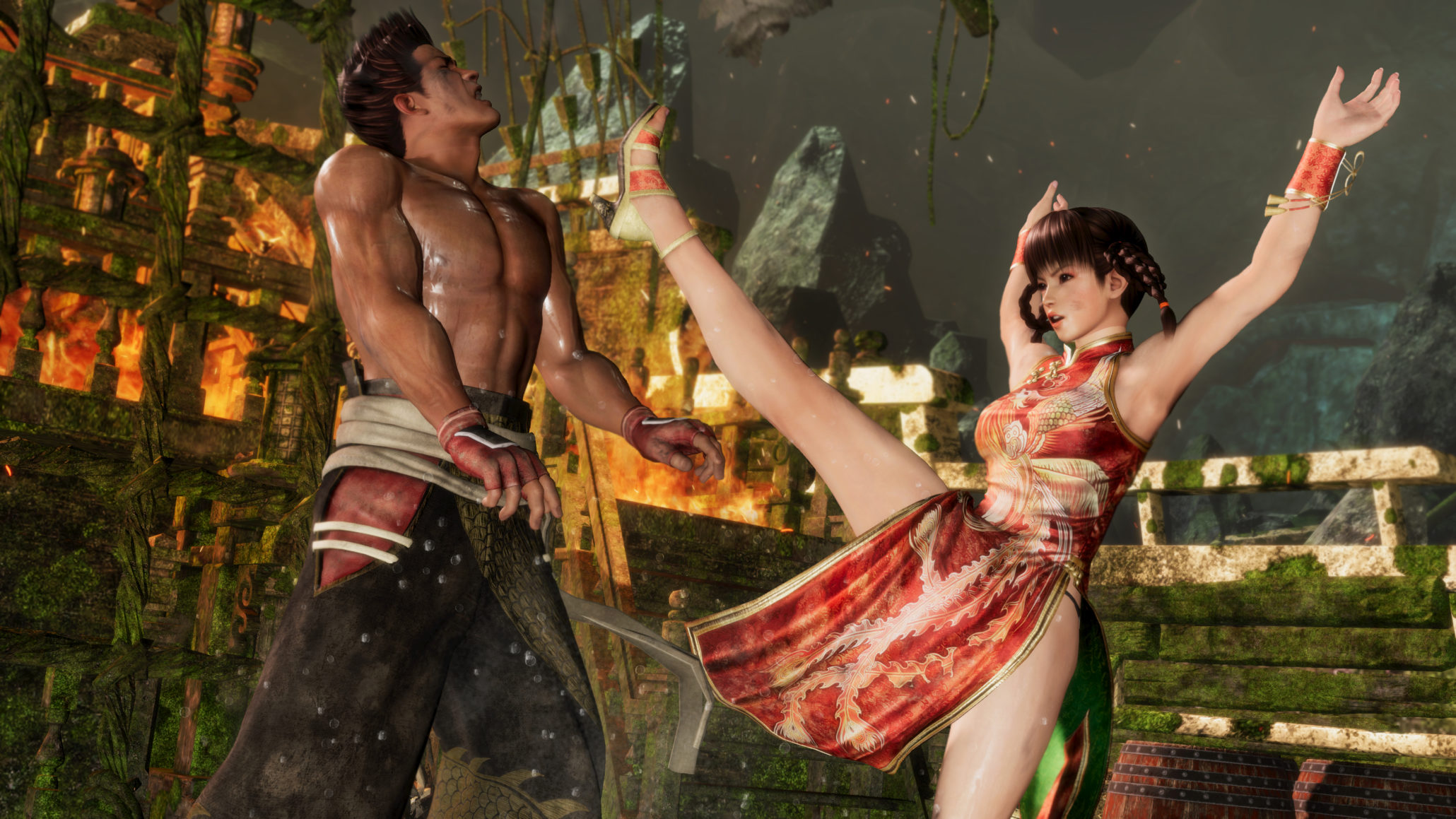 You can bounce around in Dead or Alive 6's Deluxe Demo right now screenshot