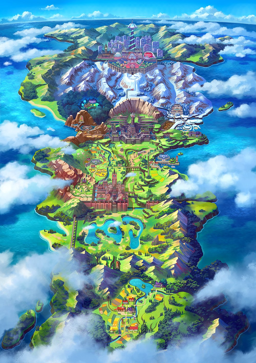 A full map of the Galar region
