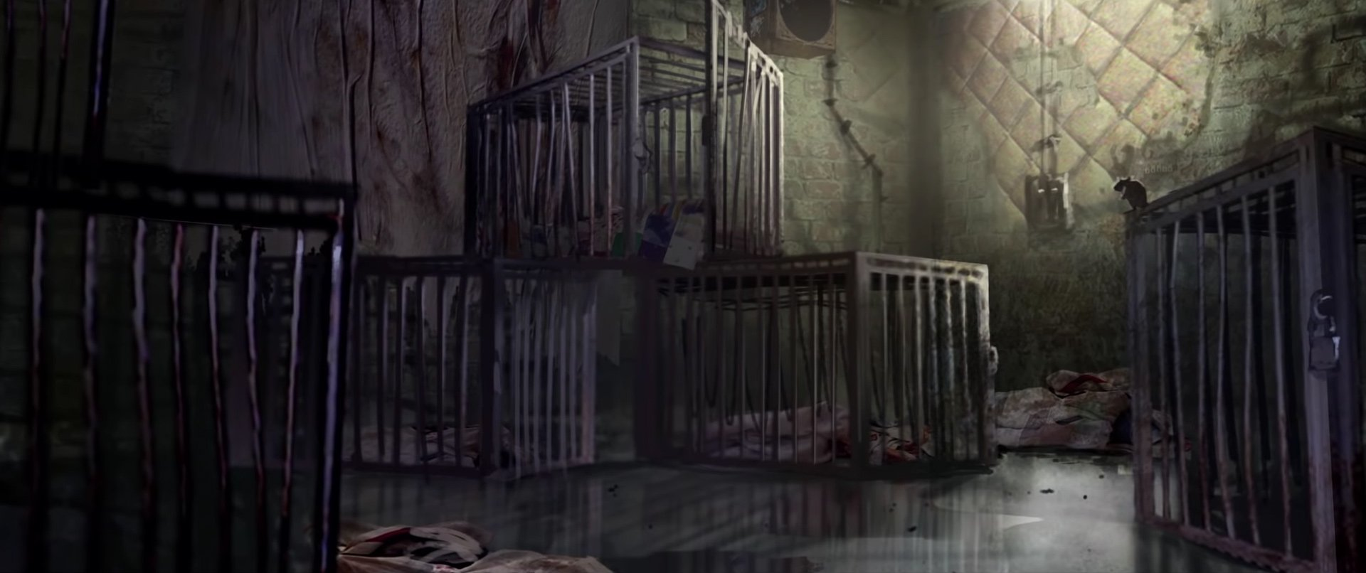 Resident Evil 2 cut content - orphanage cages