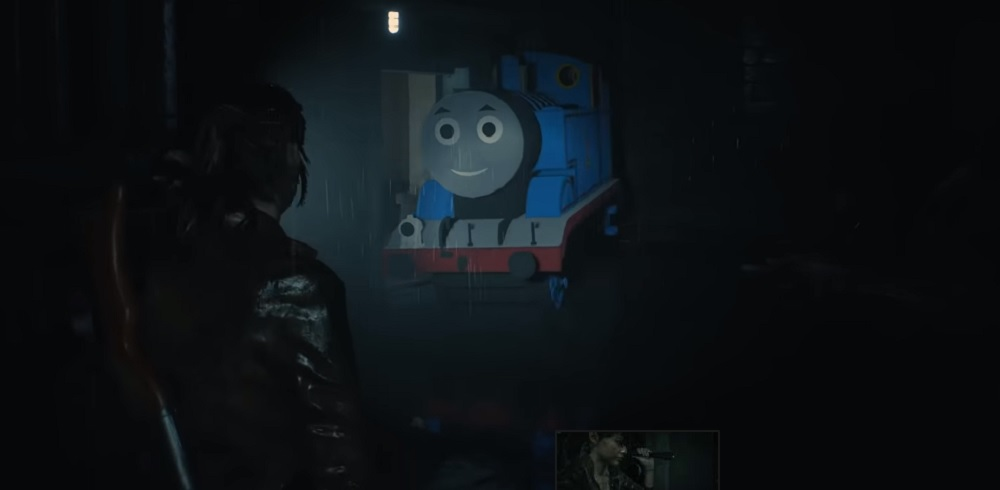 This 'Thomas the Tank Engine as Mr  X' Resident Evil 2 mod