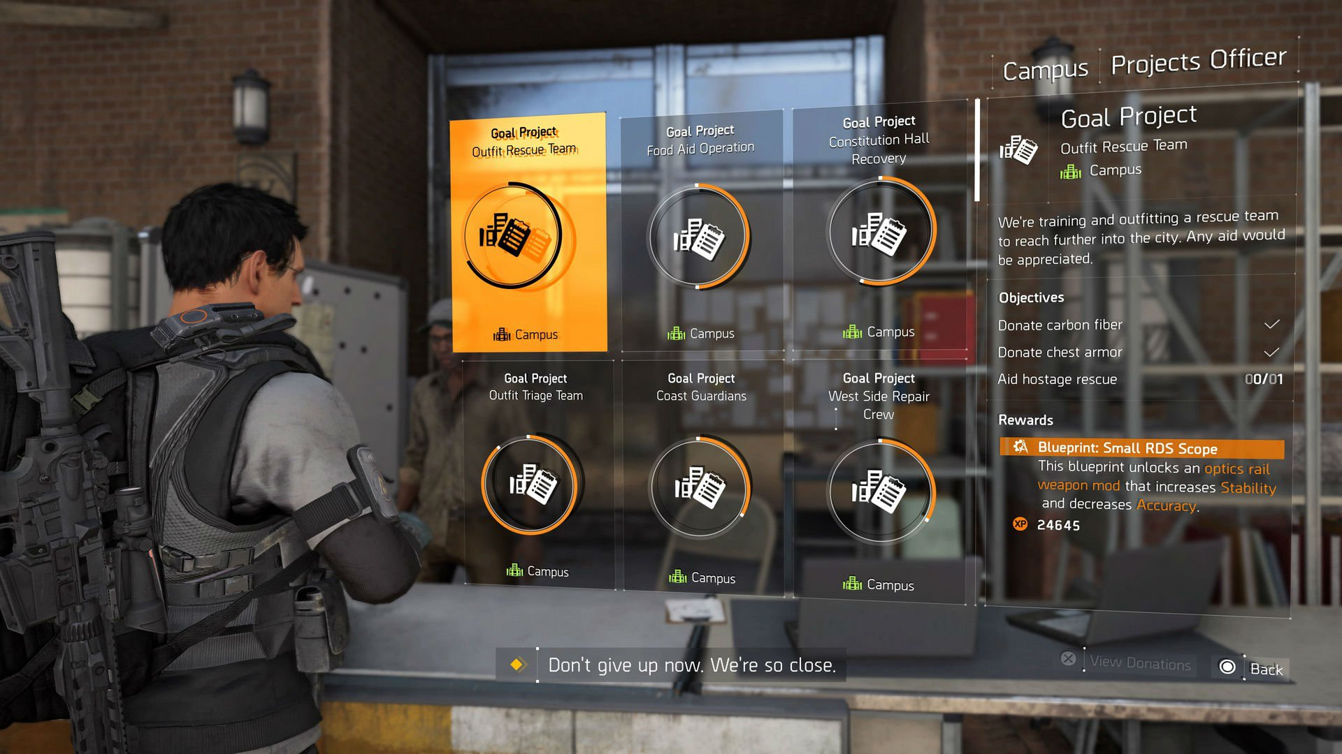 Tip: Pay attention to projects in The Division 2 for massive