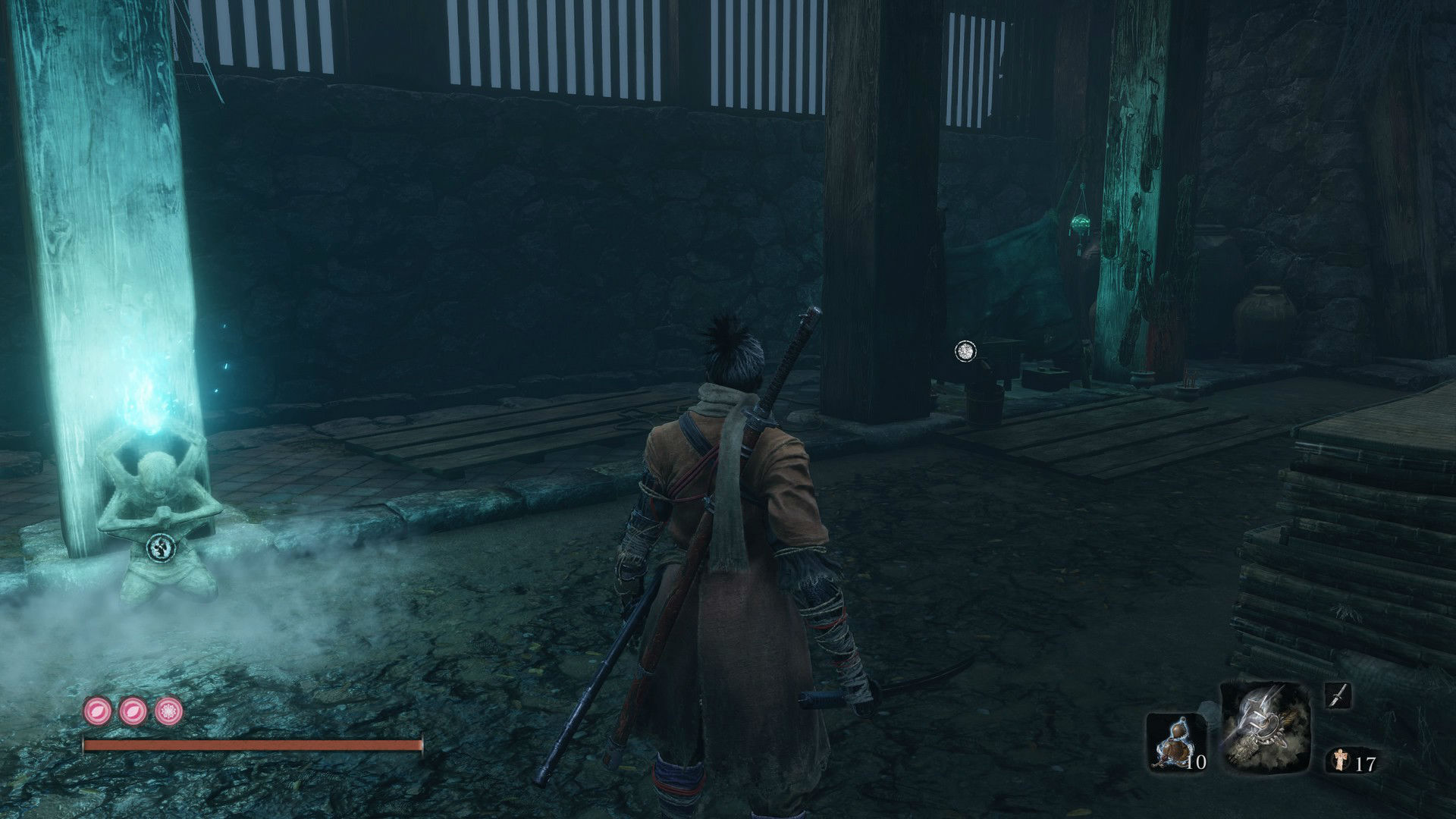 Buy a Mask Fragment from the Dungeon Memorial Mob in the Abandoned Dungeon Entrance