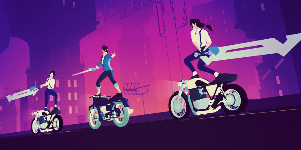 Sayonara Wild Hearts is the best Dreamcast game never made screenshot