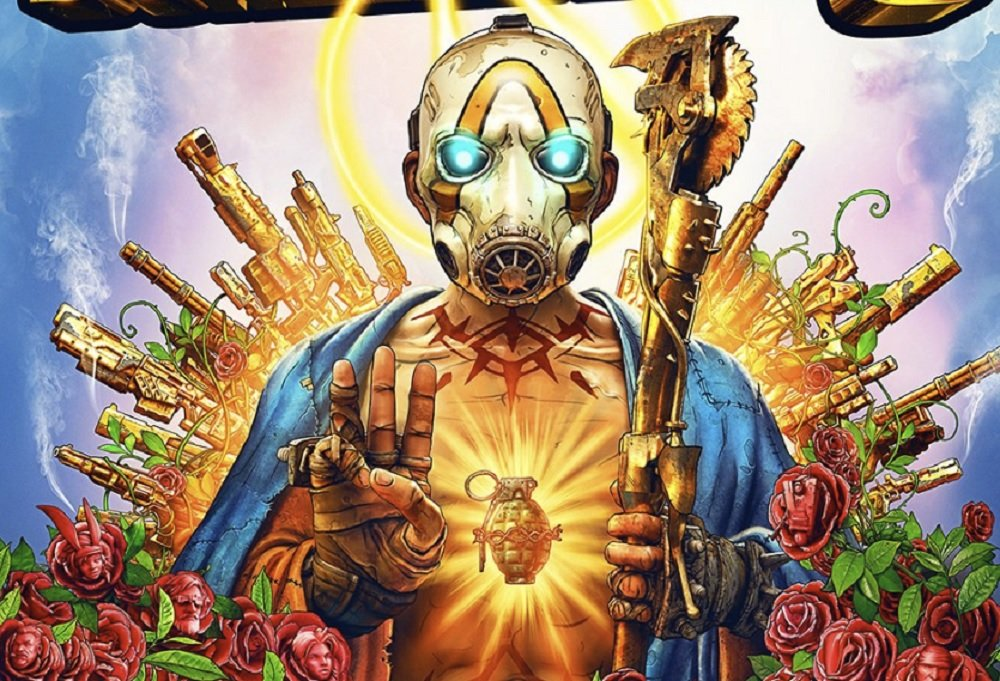 Borderlands 3's cover art somehow doesn't have a guy with a three-fingered gun screenshot