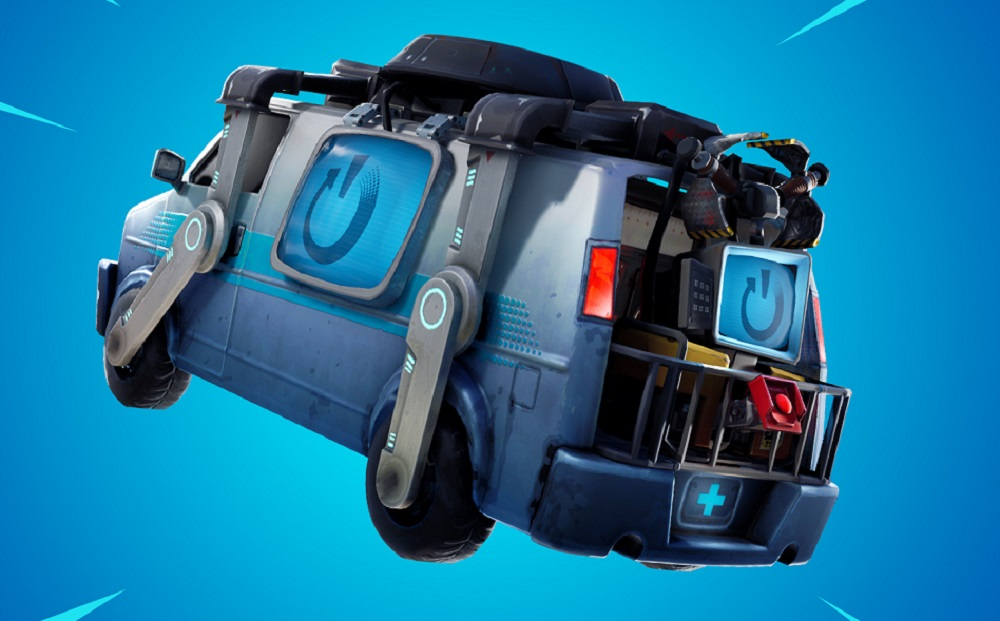 Fortnite's 8.30 update includes this way-out wacky van screenshot
