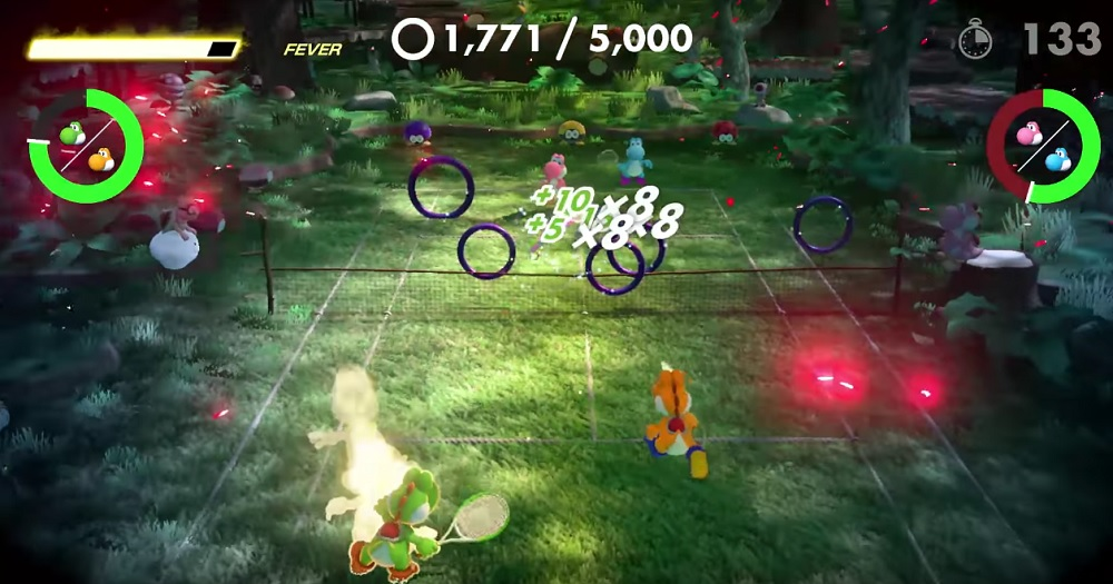 Mario Tennis Aces update adds 'Yoshi's Ring Shot' and more screenshot