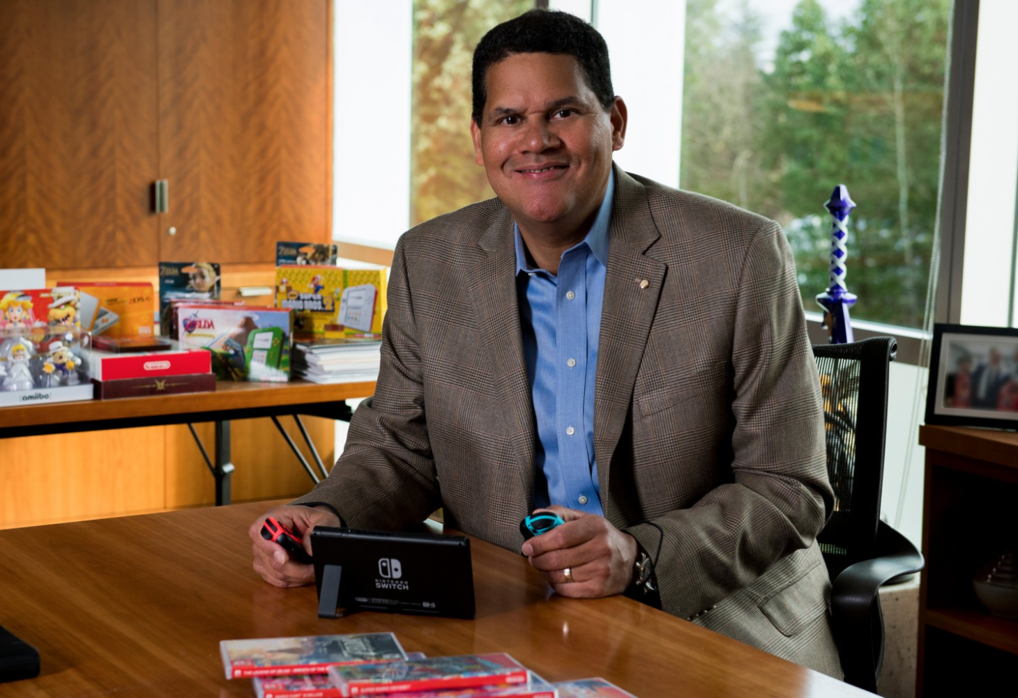 Reggie Fils-Aime retires today, I hope he gets one last pre-recorded Nintendo Direct screenshot