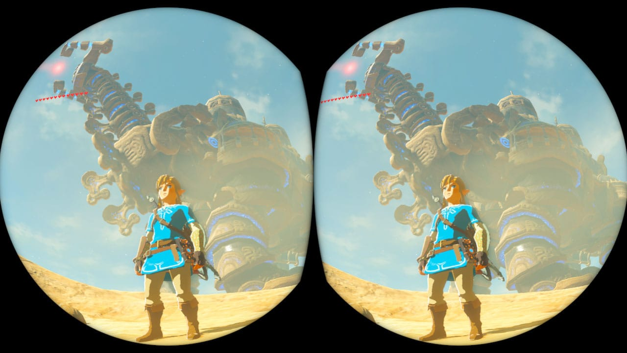 Get a closer look at Zelda: Breath of the Wild's VR function, which can be toggled at any time screenshot