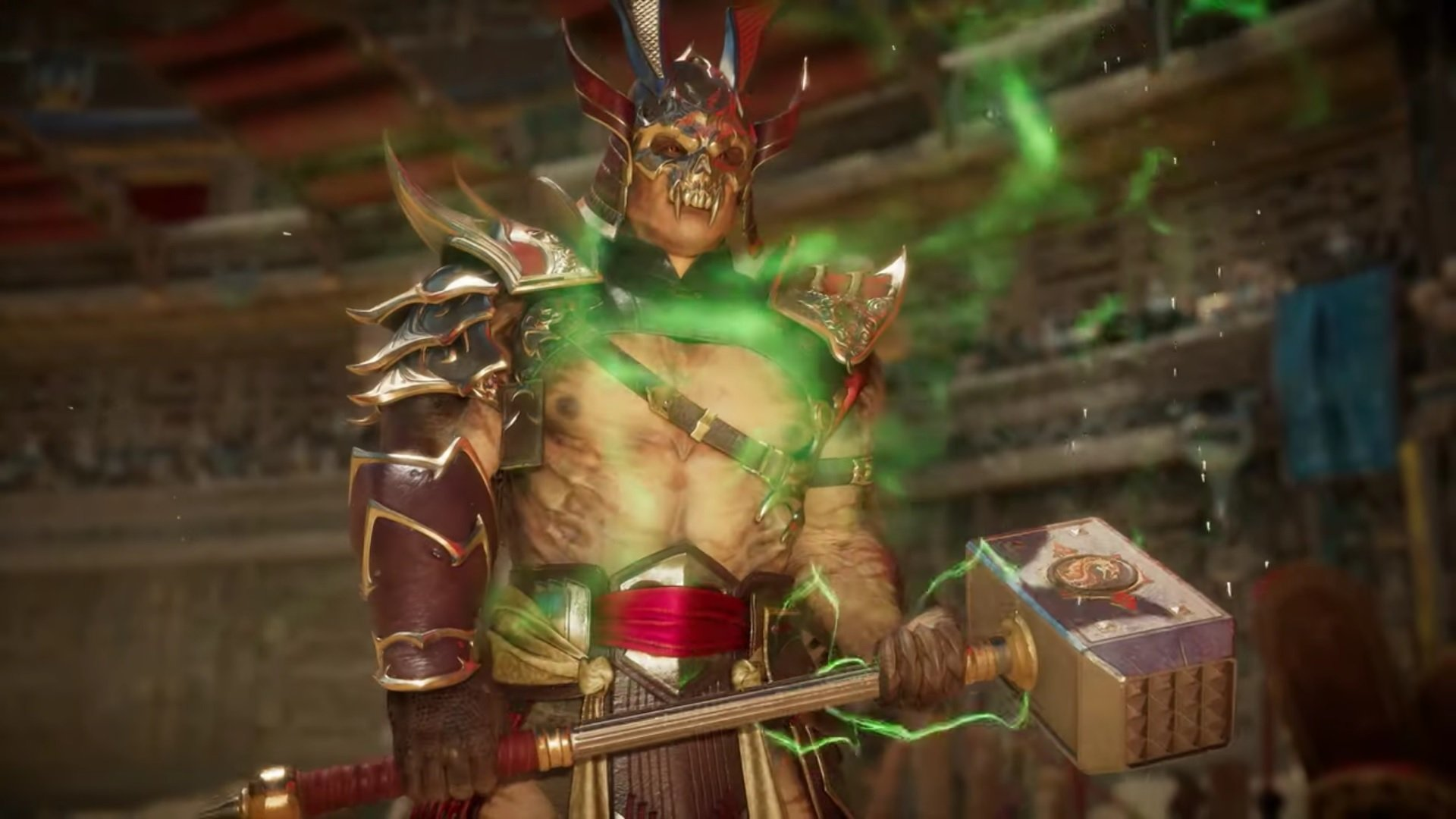 Shao Kahn looks to bring the BS to Mortal Kombat 11 screenshot