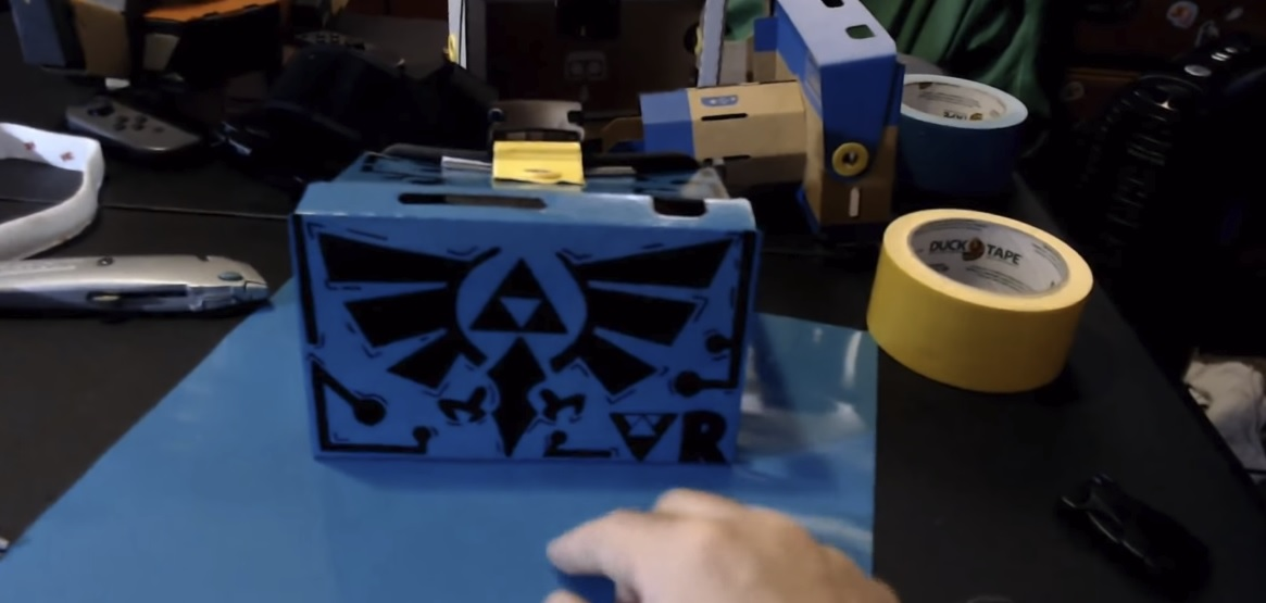 Here's how to turn your Labo VR kit into a Zelda: Breath of the Wild art piece screenshot