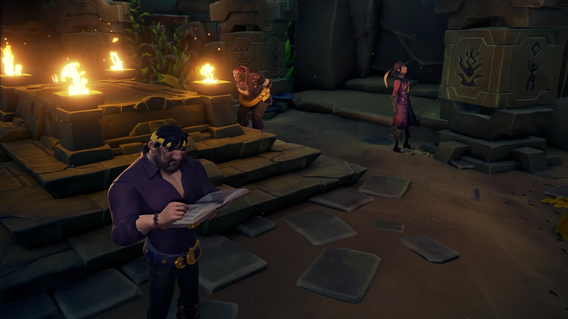 Solving dungeon puzzles in Sea of Thieves: Shores of Gold